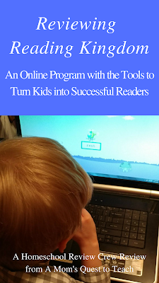 Using an online program to learn to read.
