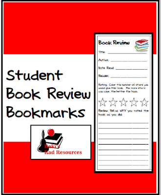 Free student book review bookmarks to help students evaluate books that they read. Free resource from Raki's Rad Resources.