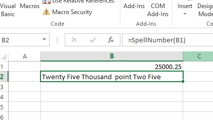 Convert Number to word in Excel Using VBA