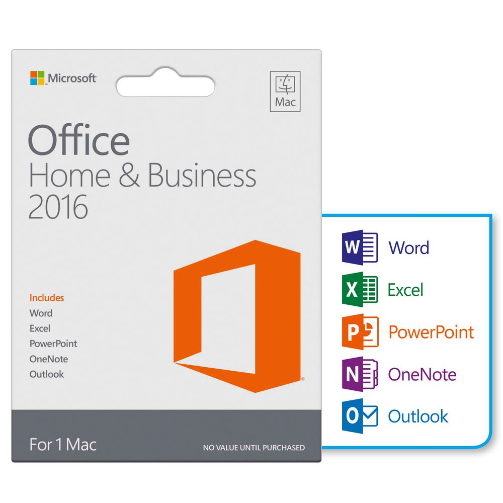 ms office for mac home and business 2016