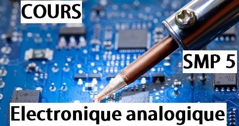 Cours D Electronique Analogique Smp Semestre S5 Pdf Eprepare