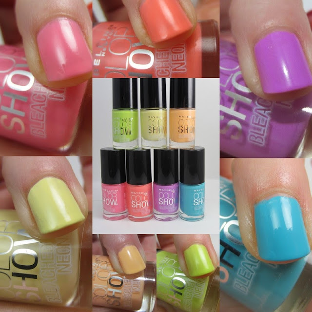 Maybelline Bleached Neons Collection