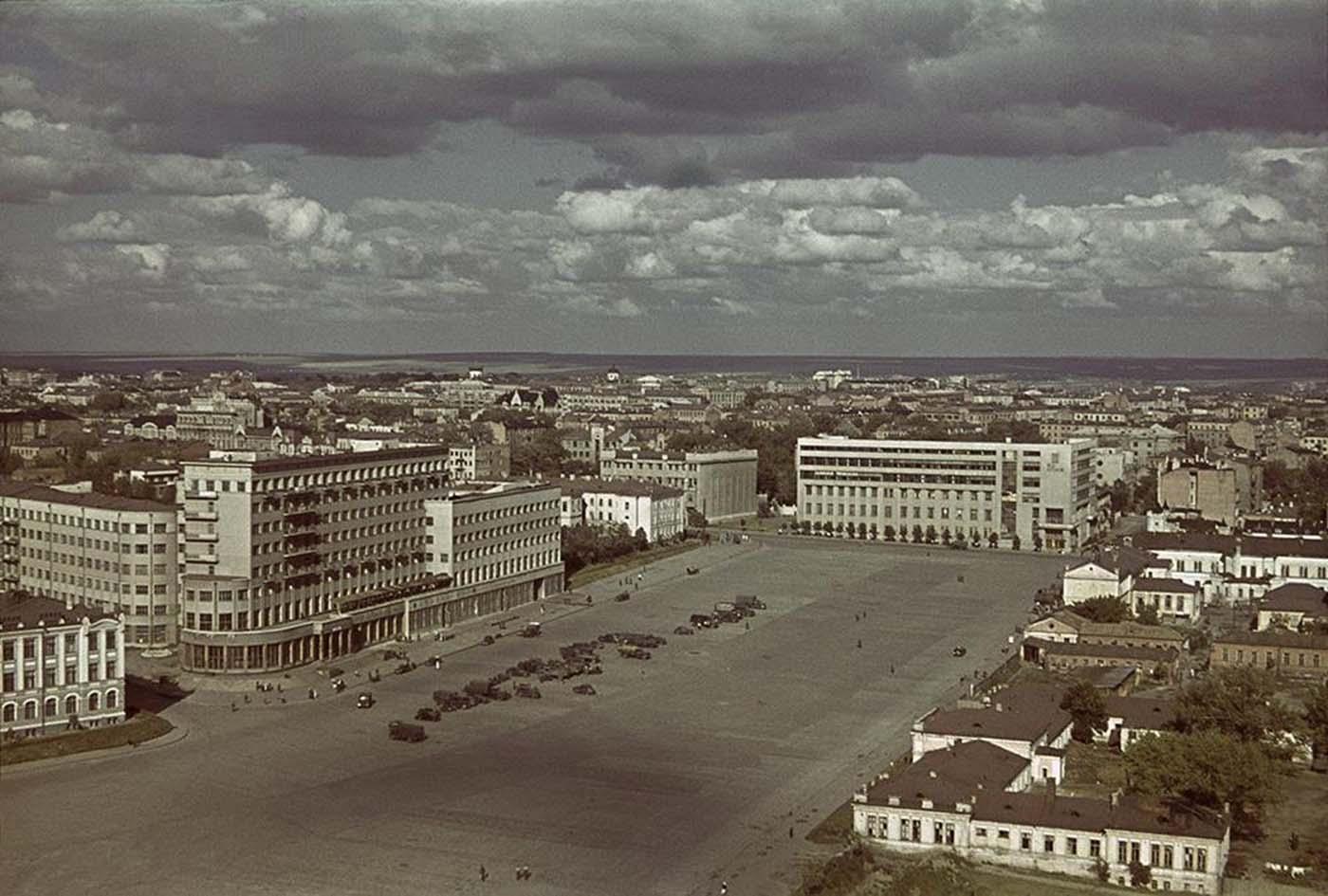 Vista de Kharkov, Ucrania, octubre-noviembre de 1941.