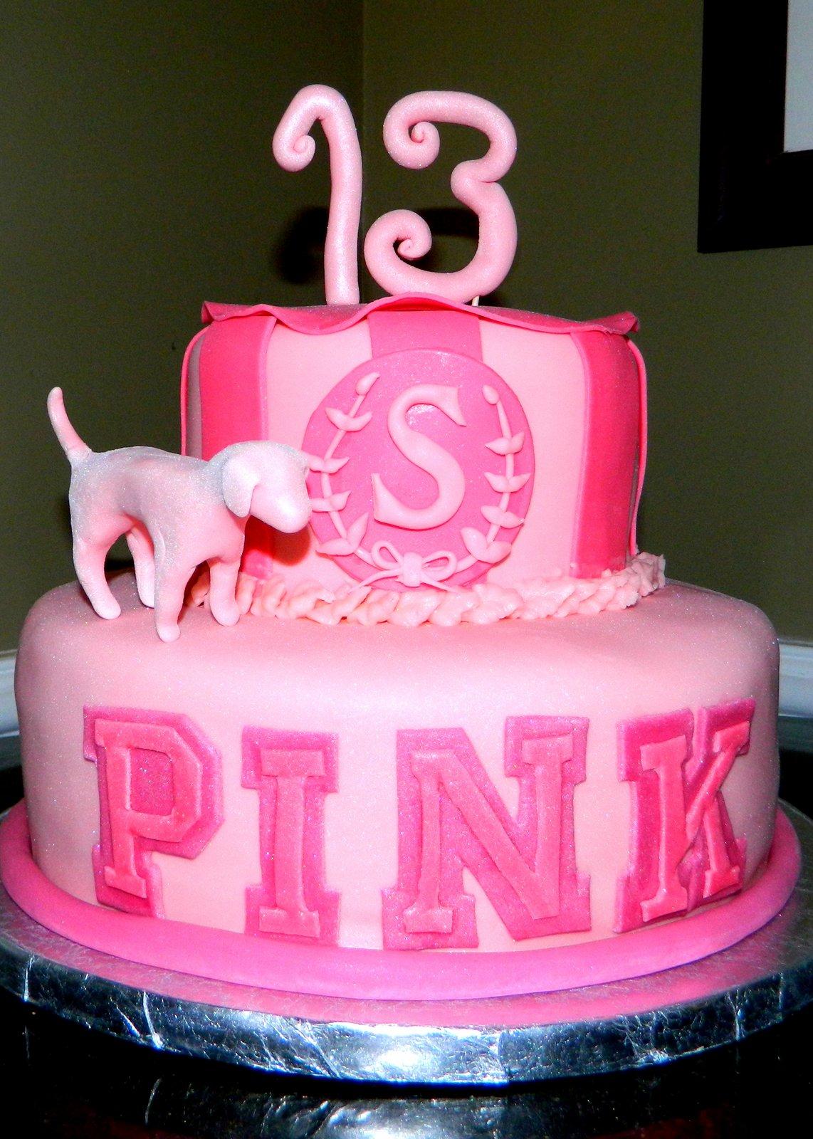 Victorias Secret Pink  Birthday Cake