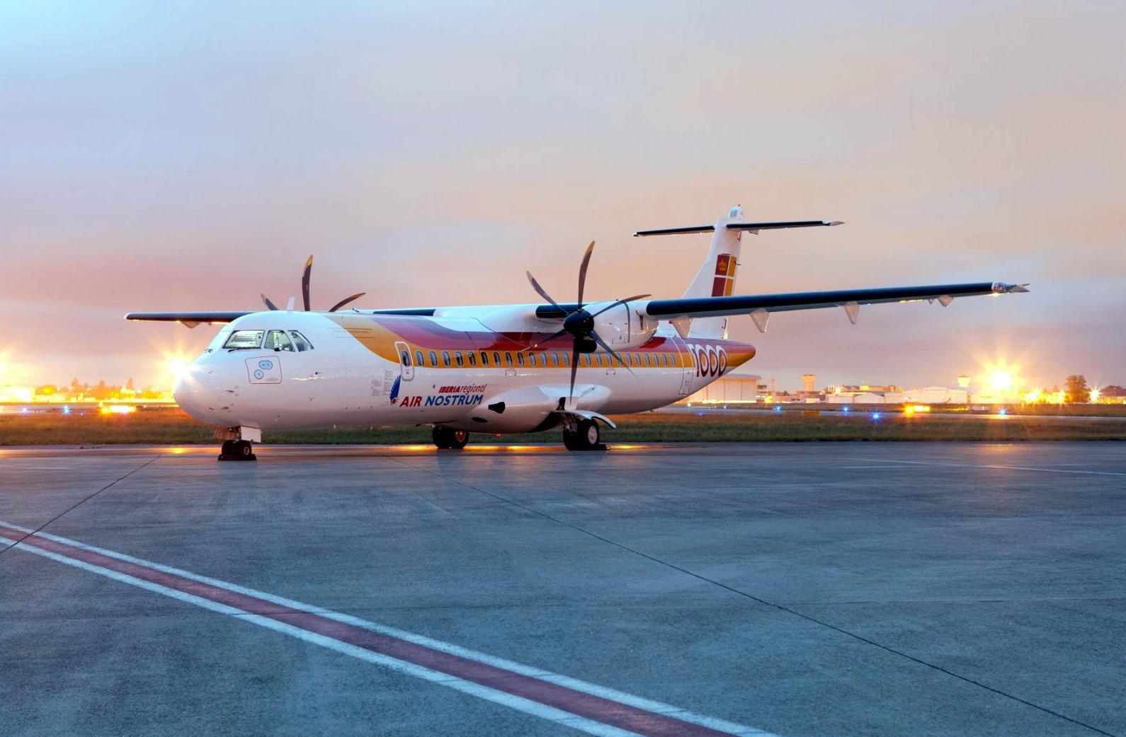 Air Nostrum ATR-72 In Sunrise Scene