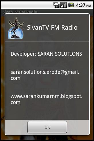 SARAN KUMAR N M: SivanTV FM Radio Android App
