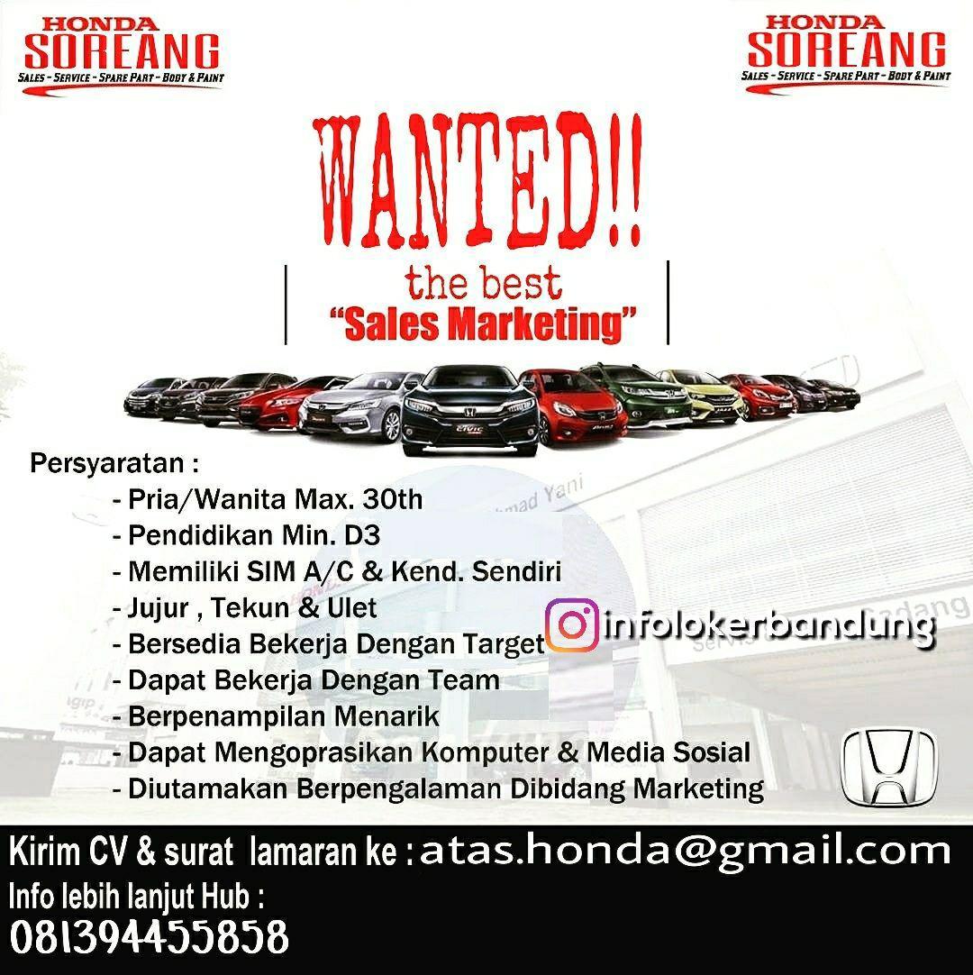 Lowongan Kerja Honda Soreang Bandung Januari 2018
