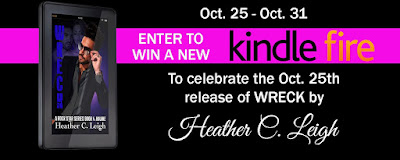 Offbeat Vagabond: Wreck Blog Tour - Book Review + Kindle Fire Giveaway: Wreck: Hawke (Sphere of Irony #4) by Heather C. Leigh