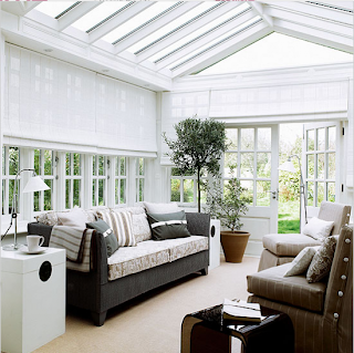 Roman blinds for conservatories