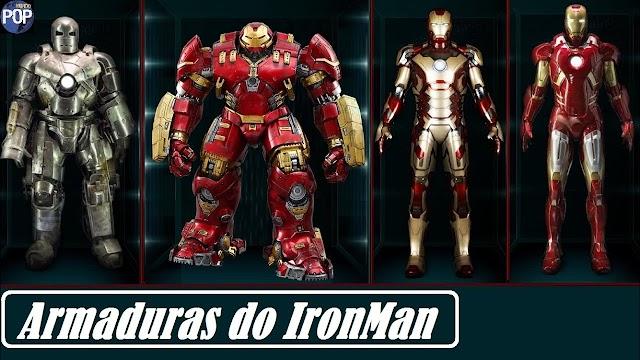 Confira todas as armaduras do Homem de ferro desde a Mark 3 até a Mark 50. Confira todas!