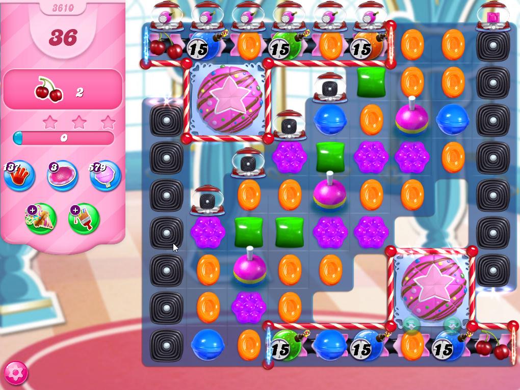 Candy Crush Saga level 3610