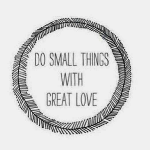 Small Great Things Quote: Livliga® Live Vibrant Blog: Great Healthy Living Quote #71