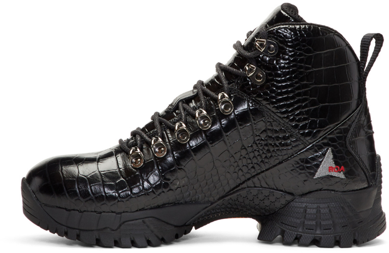 487de25a15e The Slick Hiker: Alyx Black Croc Hiking Boots   SHOEOGRAPHY