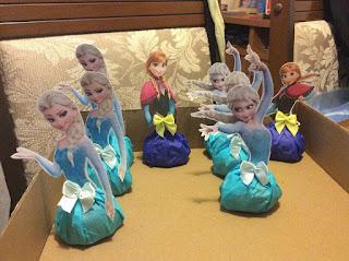 Elsa e Ana de bombom