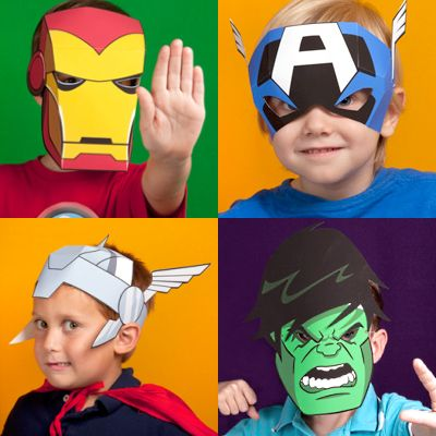 Printable avengers masks for kids for Avengers mask template