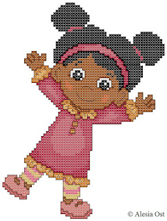 Free cross-stitch patterns, Miss Elaina, girl, Daniel Tiger, Daniel Tiger's Neighborhood, cartoon, cross-stitch, back stitch, cross-stitch scheme, free pattern, x-stitchmagic.blogspot.it, вышивка крестиком, бесплатная схема, punto croce, schemi punto croce gratis, DMC, blocks, symbols, patrones punto de cruz