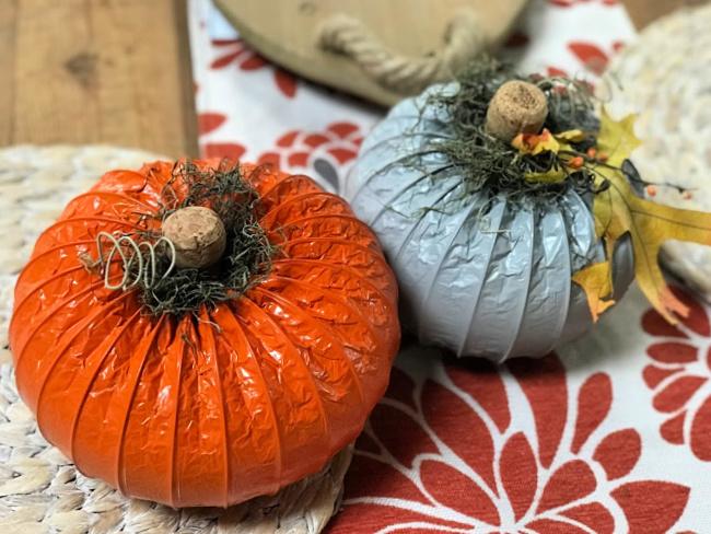 Make a DIY Dryer Hose Pumpkin