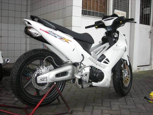 Modifikasi supra x 125 fi road race racing thailook