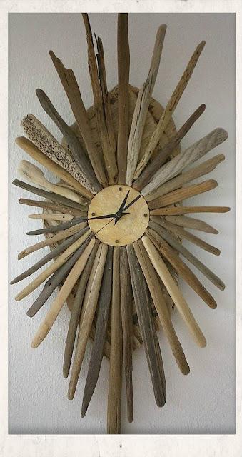 ιδεες καλοκαιρινης διακοσμησης και ρολογια,ρολογια για καλοκαιρινο ντεκορ,χειροποιητα ρολογια απο θαλασσοξυλα,ρολογια απο σανιδες καλοκαιρινο ντεκορ