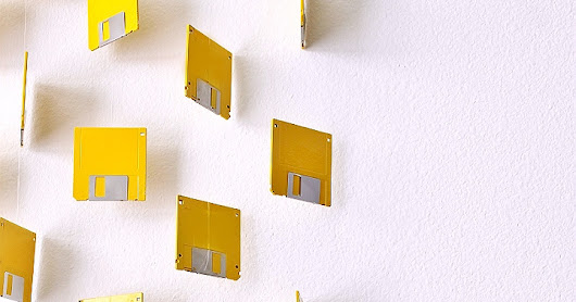 Harnessing A 'Pop Of Color' With My D.I.Y Floppy Disk Curtain Wall Art
