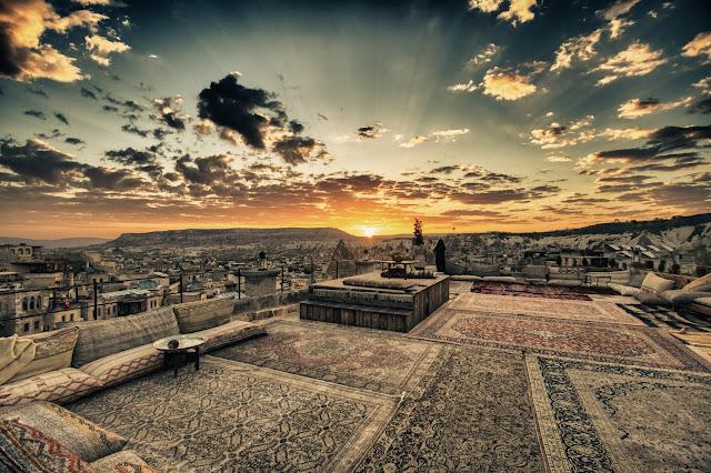 Alba a Goreme in Cappadocia da hotel Seten