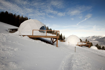 En Whitepod Resort, en los Alpes suizos. 9