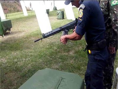 Equipe da Guarda Municipal de Corumbá (MS) participa de torneio de tiro no 17º Bfron