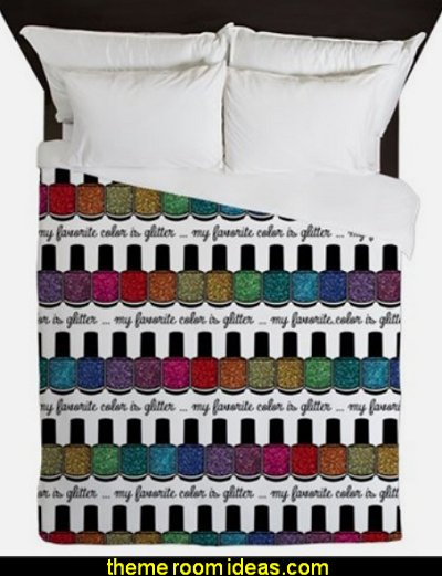 My Favorite Color Is Glitter 3 Queen Duvet  nailpolish bedding nail polish duvet