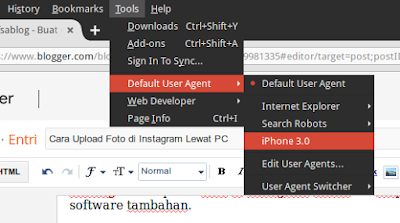 Cara Upload Foto di Instagram Lewat PC
