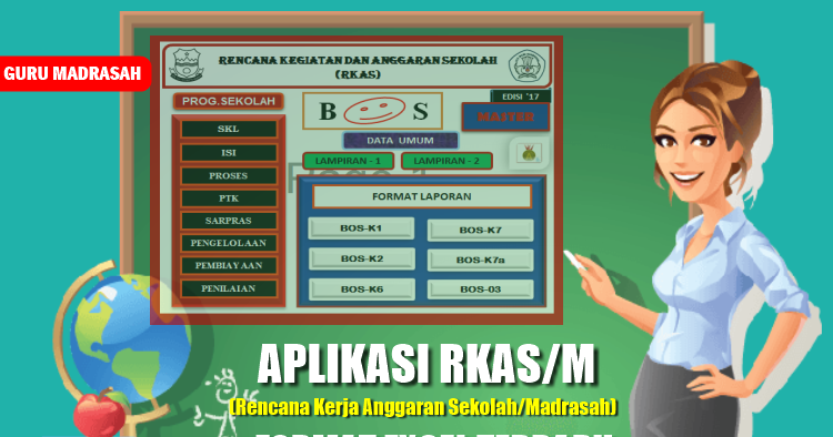 Aplikasi Rkas M Dalam Format Excel Terbaru Guru Madrasah