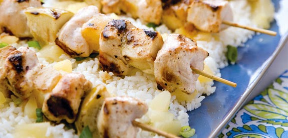 Chicken Kabobs over Rice Recipe