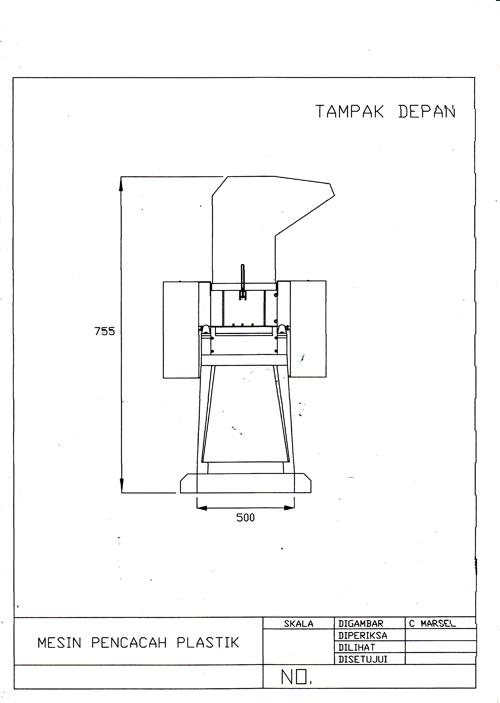 HM PUTRA: Cara membuat mesin pencacah plastik