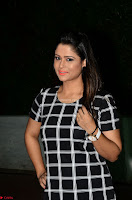 Shilpa Chakravarthy in Dark blue short tight dress At Srivalli Movie Pre Release Event ~  Exclusive Celebrities Galleries 050.JPG
