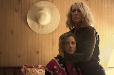 Halloween 2018 movie still Jamie Lee Curtis Judy Greer