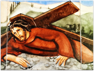 Via Sacra 07 'Jesus Cai pela Segunda Vez', na Capilla Hotel de Villavicencio