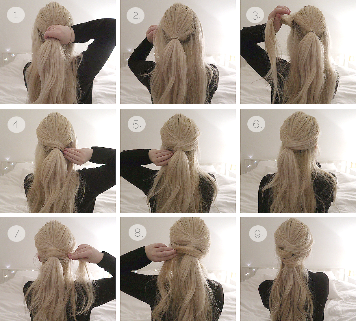 Hair tutorial Two simple knot half updos  Grace  Braver