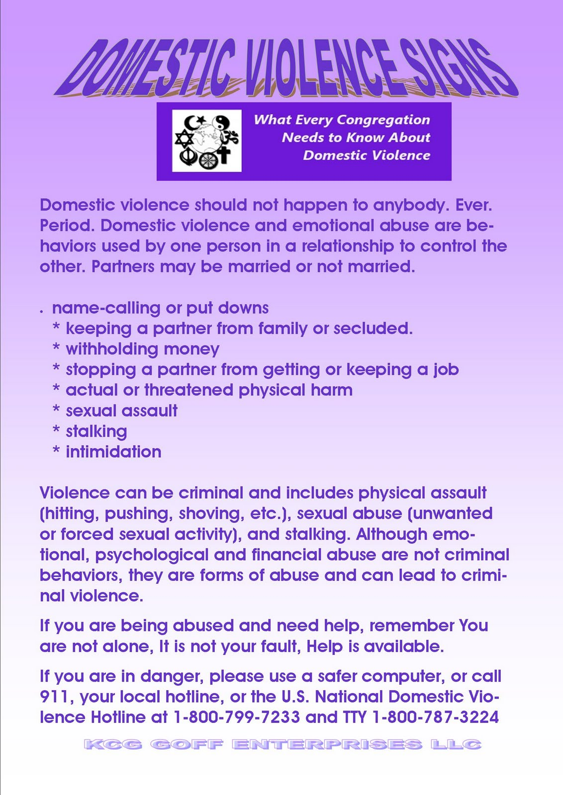 WellScript, LLC: October is Domestic Violence Awareness Month