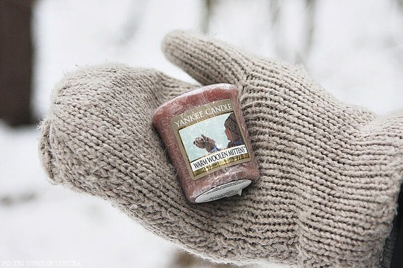 yankee candle warm woolen mittens na rękawiczce