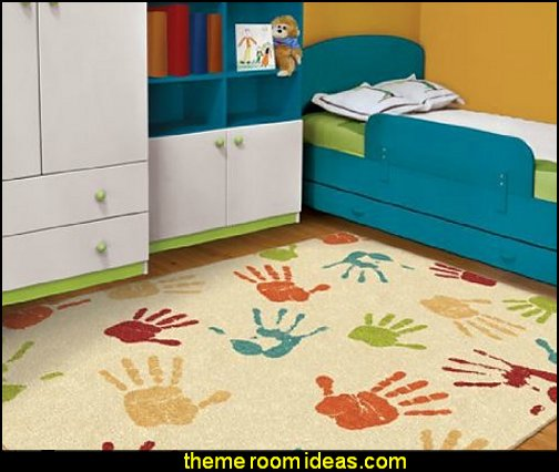 Handprints Kids' Area Fun Rug