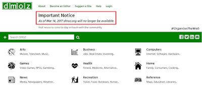 رسميا...اغلاق دليل المواقع dmoz في منتصف مارس الجاري