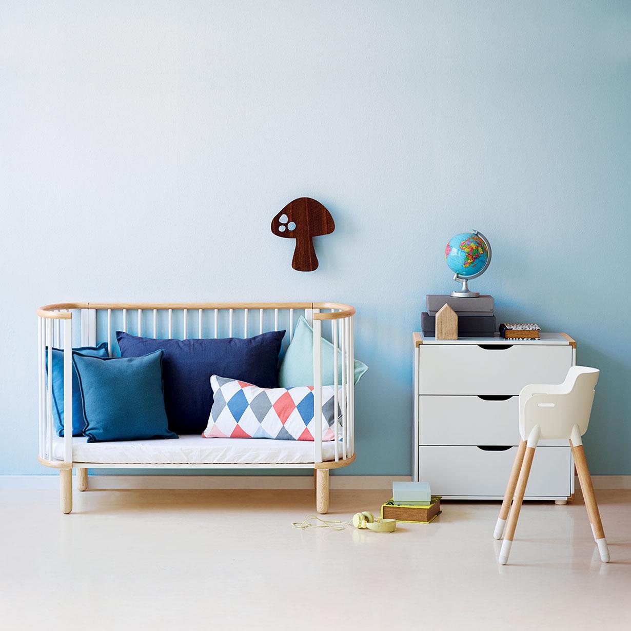 cunas de diseño - decorar habitación del bebé