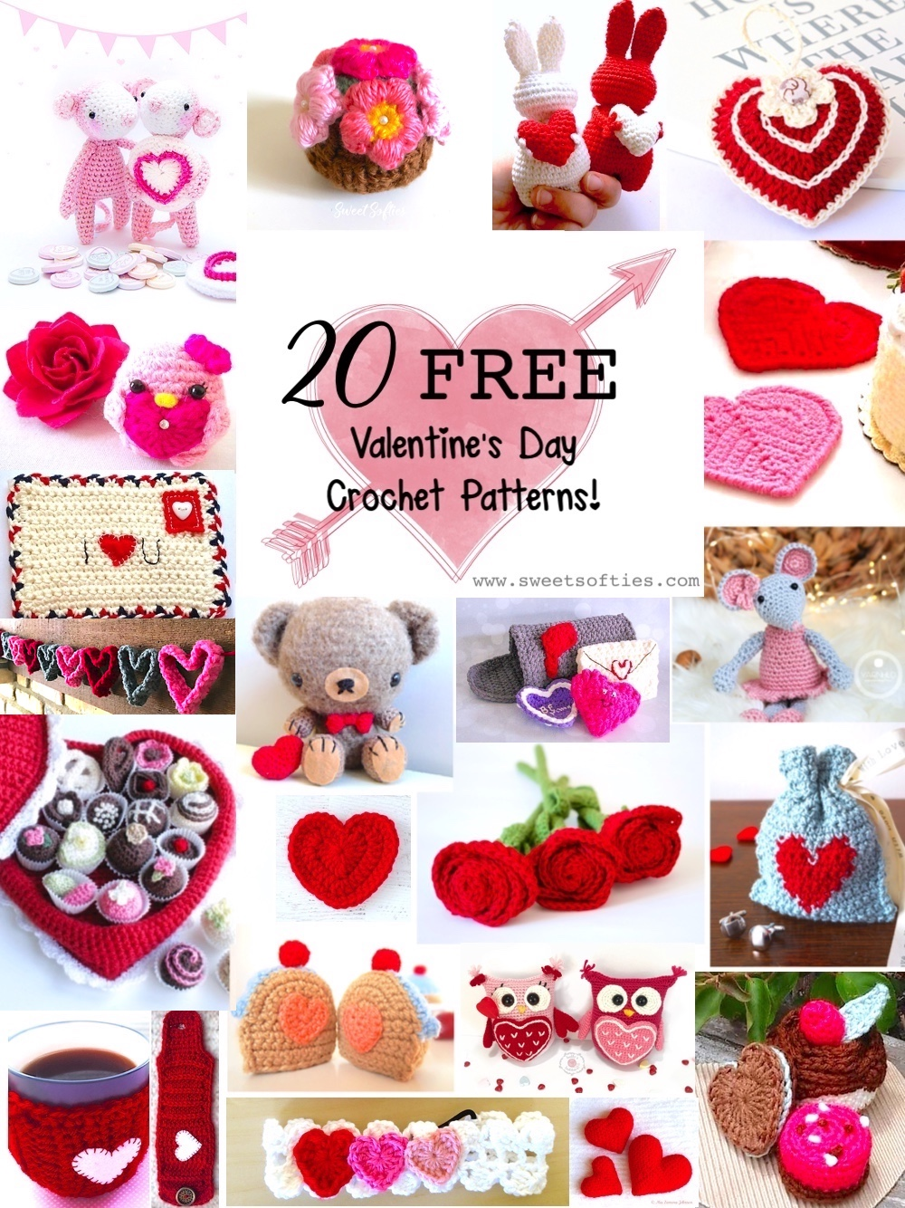 20 Free Valentines Day Crochet Patterns Sweet Softies Amigurumi