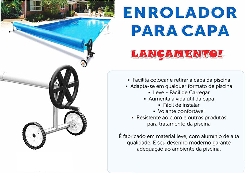 enrolador de capa térmica para piscinas