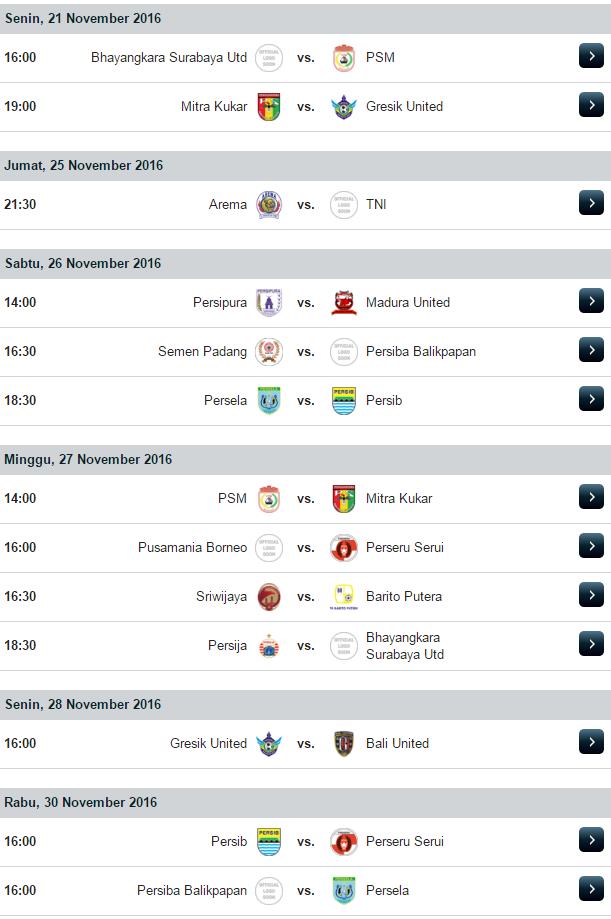 jadwal pertandingan dan jadwal hasil pertandingan