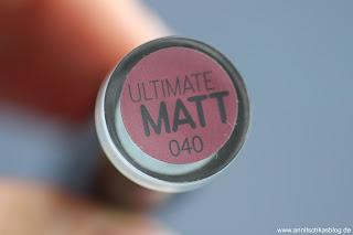 Review: 9 Bloggers Favourites von CATRICE - Ultimate Matt Lipstick - www.annitschkasblog.de