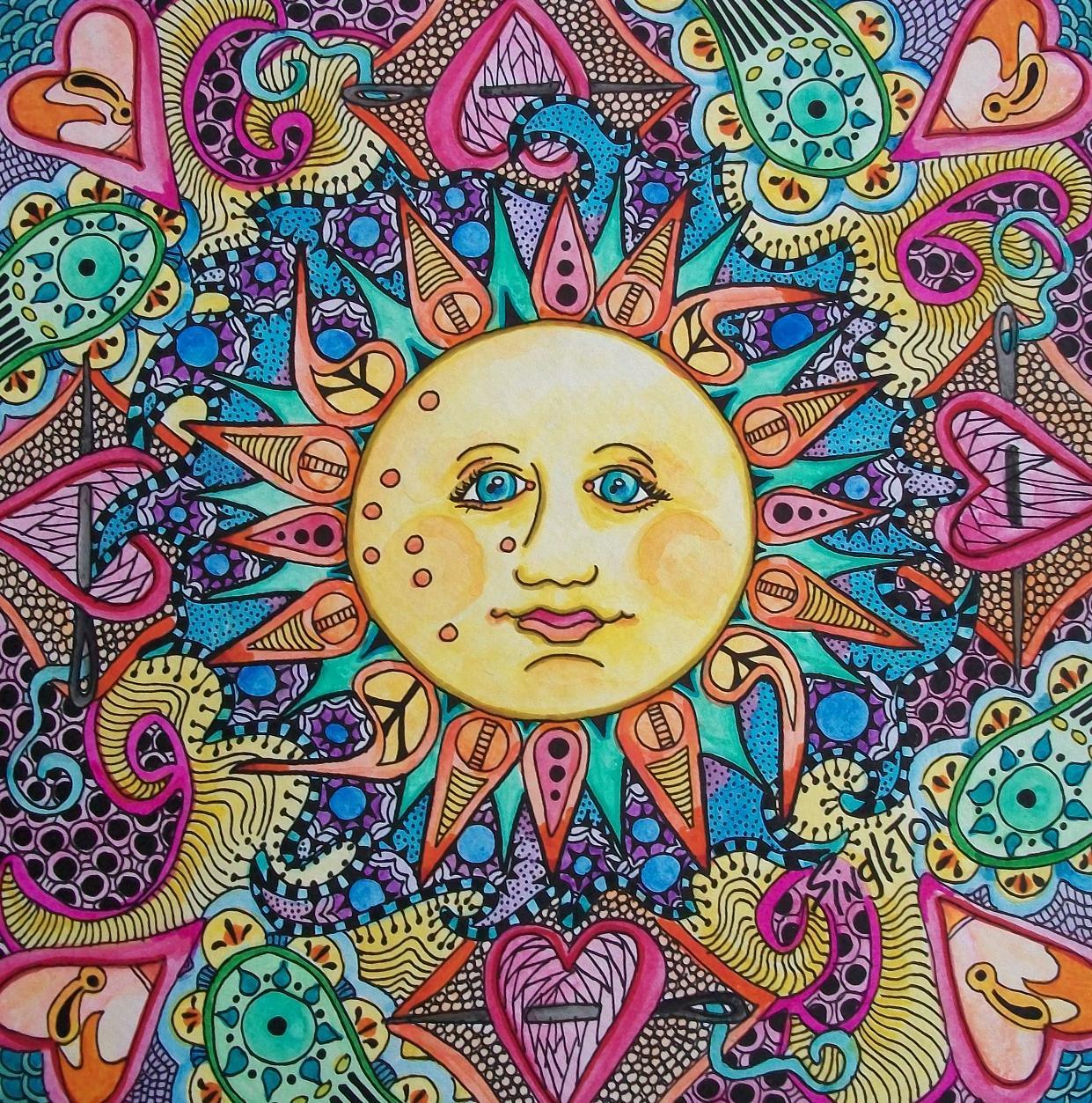 Just Give Me Peace: Technicolor Sunrise, Singleton Hippie Art