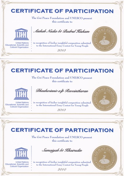 Goi peace foundation essay contest 2011 results