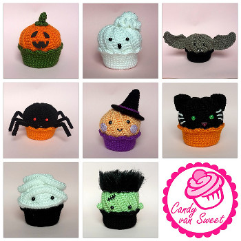Halloween Amigurumi Crochet : 2000 Free Amigurumi Patterns: Halloween Cupcakes