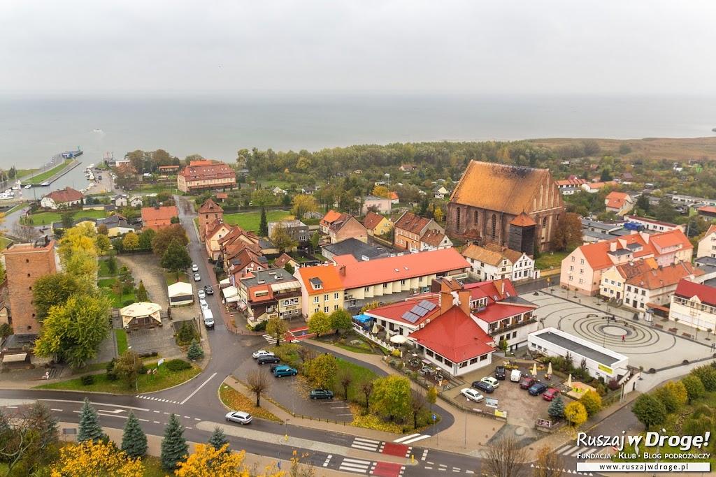 Widok na Frombork z dzwonnicy katedry