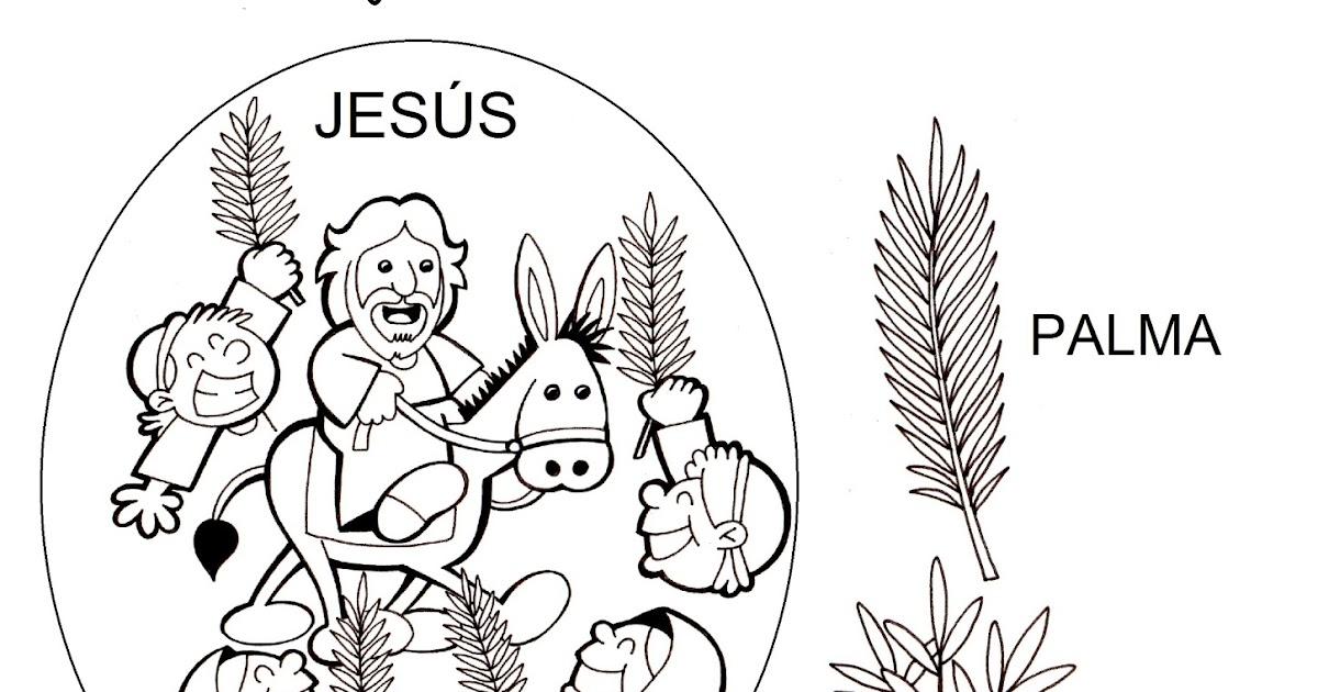 Asombroso Biblia Colorear Páginas Palma Domingo Viñeta - Dibujos ...